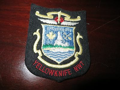 Yellowknife North West Territories  Embroidered  Patch/crest
