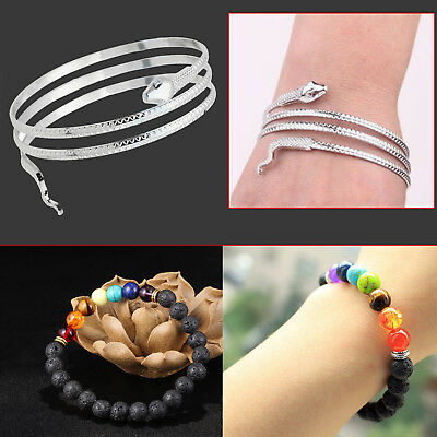 Coiled Snake Spiral Upper Arm Cuff Armlet Armband Bangle Bracelet Anklet Punk UK