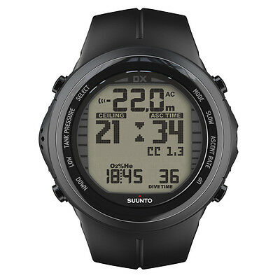 SUUNTO DX Black Elastomer Tauchcomputer (mit USB-Kabel)