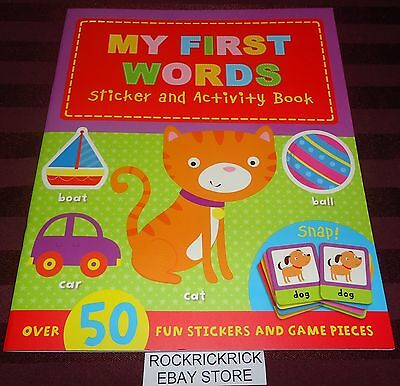 My First Words - Sticker And Activity Book -Brand New-