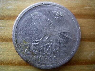 1968 Norway 25 ore coin collectable