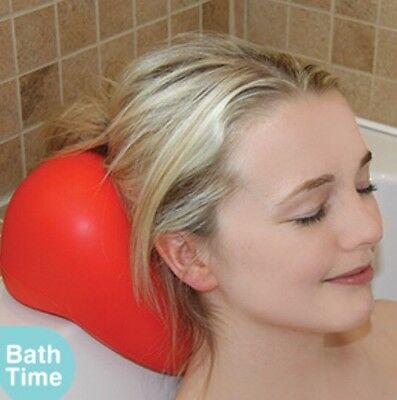 Luxury Red Relaxing Spongy Cushioned HEART Bath Spa Pillow Head Neck Rest Pillow
