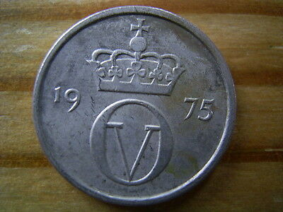 1975 Norway 10 ore coin collectable