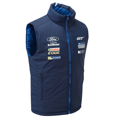 Ford Performance Team Gilet Blue Bodywarmer Winter Jacket