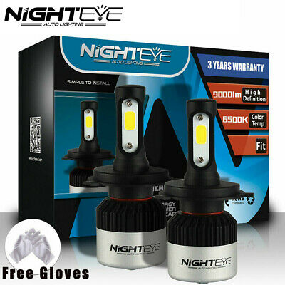 Nighteye 9000LM H4 HB2 9003 LED Headlight light Bulbs Lamp Kit Hi/Low Beam White
