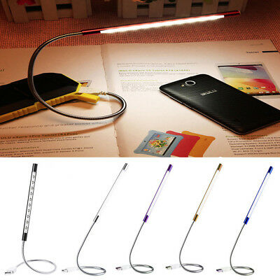 Portable Flexible USB Stick Dimmable Touch Switch 10 Super Bright LED Light Lamp