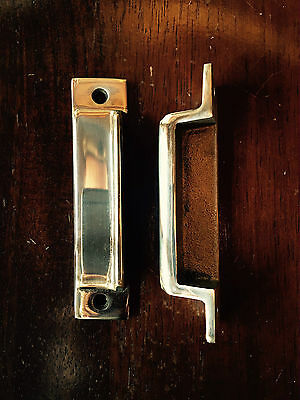 SOLID BRASS RIM LOCK DOOR KEEP 105mm ~ BRITISH MADE VICTORIAN RIMLOCK KEEPS BK19