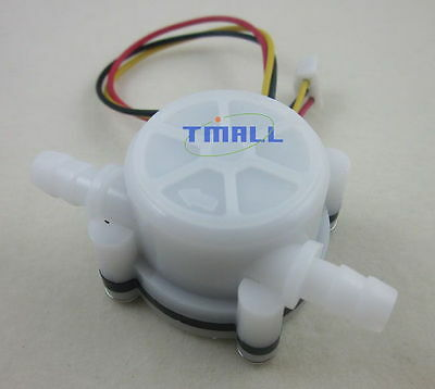 "G1/4"" 0.5-5L/min Water Coffee Flow Hall Sensor Switch Meter Flowmeter Counter"