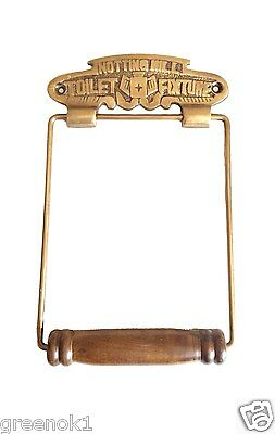 Vintage Toilet Roll Holder Gold Brass Victorian Notting Hill Shabby Chic Novelty