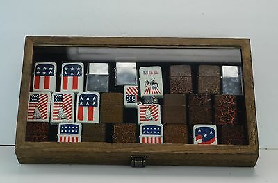 Counter Top Latch Wooden W/ Real Glass Display (Lighters Not Included)15 X 8 1/2