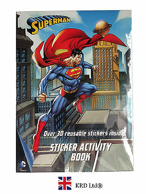 NOTEBOOK SUPERMAN Kids STATIONARY SET Party Favors Bag Fillers Gift FELT PENS