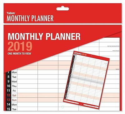 2017 MONTHLY PLANNER / STAFF ROTA . A4 SIZE one week to view design