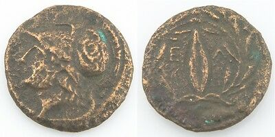4th-3rd Century BC Greek AE19 Coin VF+ Aeolis Elaea Athena Grain Seed Sear-4201