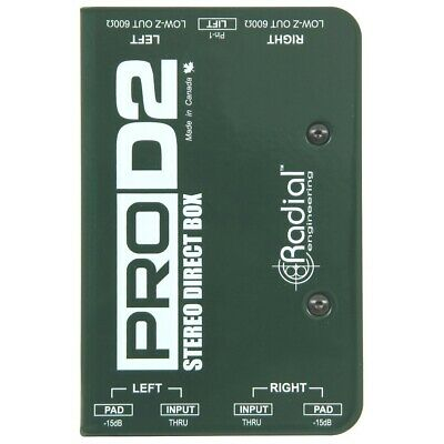 Radial Engineering ProD2 Passive Dual 2-Channel Stereo Direct Box DI Pro D2