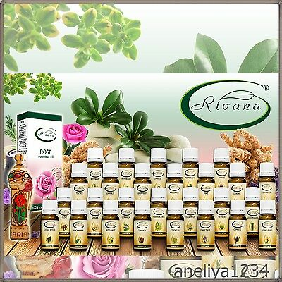 RIVANA - 100% Natural Essential Oils - Rose,GINGER, Thyme, Pepermint, TEA TREE