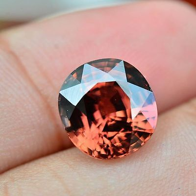 6.22ct Natural Oval Pink Zircon Cambodia #R
