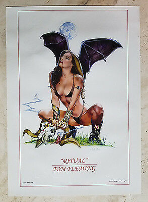 Ritual Purgatori Color ART PRINT! signed by Tom FLEMing