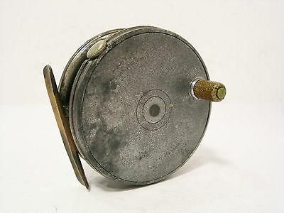 """Vintage Antique Hardy Perfect 3"""" Alloy Trout Fly Fishing Reel"""