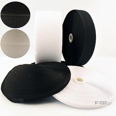 20mm hook and loop sew-on Black or White fastening tape