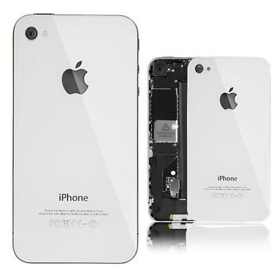 White Back Battery Cover Glass Housing Replacement For iPhone 4 CDMA A1349