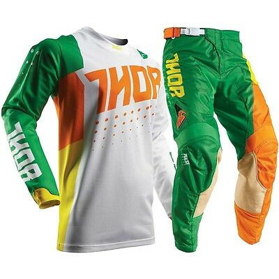Thor 2017 Mx NEW Pulse AIR Vented Aktiv Cactus White Green Motocross Gear Set