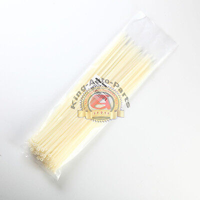 """100 PCS 15"""" inch ZIP Ties Nylon 40 lbs Strap Cable Wire Tires - White"""