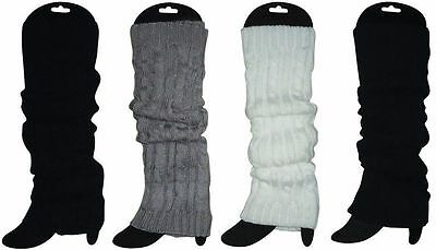 4 Pairs Leg Warmers Stocking Leggings High Knitted Womens Party Knit Ankle Socks