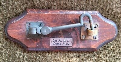 Original Hasp from The Queen Mary Ship