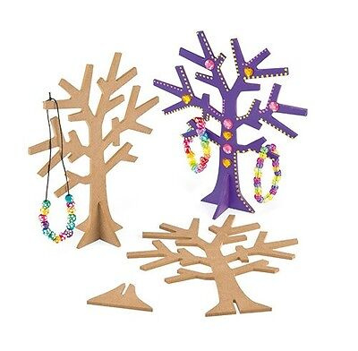 Wooden Jewellery Tree Craft Kit (pack of 2) - kids craft, great for parties
