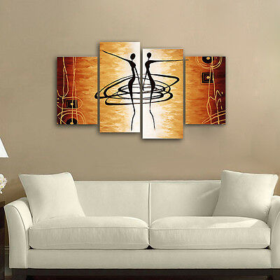 Modern Abstract Canvas Print Painting Picture Home Decor Wall Art Dancing Framed