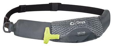 Lot of 2 Onyx M-16 Manual Inflatable Belt Pack Life Jacket M16 Grey PFD NEW