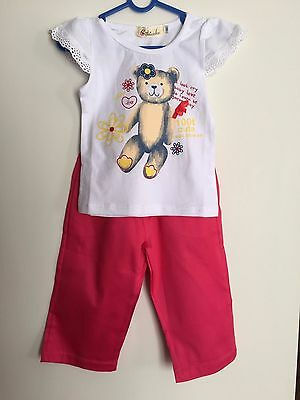New Baby Girl 2 Piece Summer Set Size 0 (9-12M)