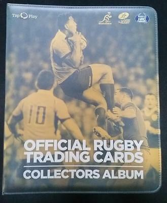 2016 Tap N Play Rugby Union Album/Folder with Complete 100 Card Base Common Set