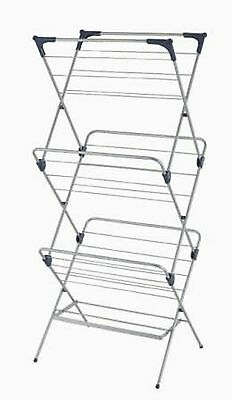 Ybm Home 3 Tier Foldable Clothes Water-Resistant Steel Drying Rack #1582-10