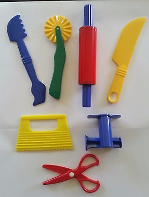 Playdough Play Doh Accessories Fun Dough Clay  7 Quality Tools for 1 Child