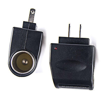 2 X 120v Ac Wall To 12v Dc Car Cigarette Lighter Adapter Converter Us Plug