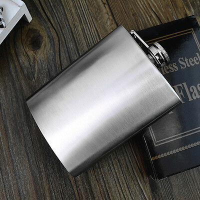 Handy Stainless Steel Hip Whiskey Liquor Alcohol Party Drink Pocket Flask+Funnel