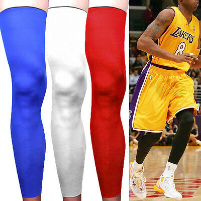 UK Red Cooling Sports Cover Leg Knee Protector Gear Basketball Football Sleeves