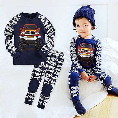 "NWT Vaenait Baby Infant Toddler Kids Boys Clothes Pajama Set ""Jeep"" 12M-7T"
