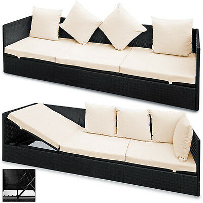 polyrattan sonnenliege gartenliege liegestuhl relaxliege. Black Bedroom Furniture Sets. Home Design Ideas