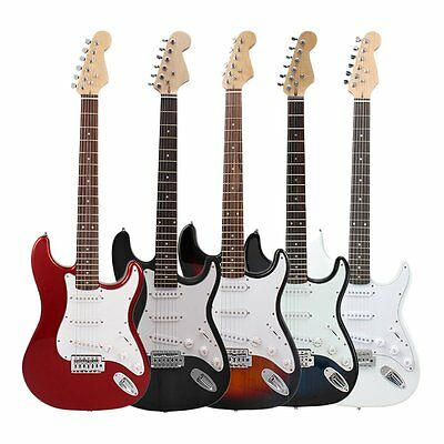 NEW Beginner Electric Guitar w/ Package Case Strap Picks Tuner Starter Pack USA