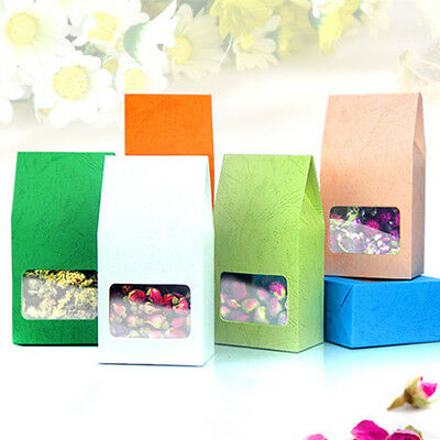 Embossing Side Gusset Kraft Paper Bags With Window Food Grade Pouches