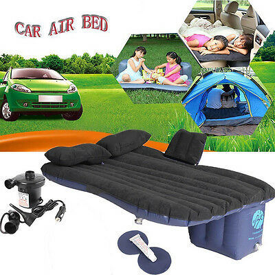 Self-drive Car Inflatable Airbed Mattress Back Seat Outdoor Sleep Bed+2 pillows