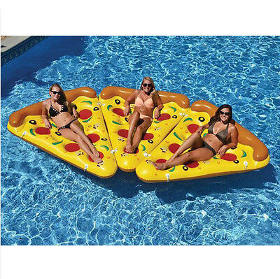 Pizza Slice InflatableSwim Ring Beach Lounger Fun Float Swimming Pool Water Toy