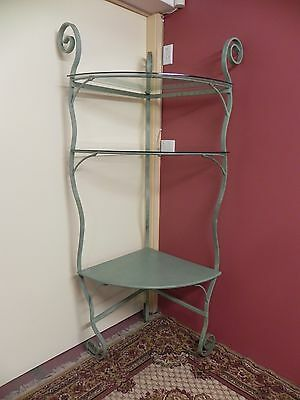 Vintage Iron Frame French Style Corner Stand