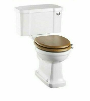 Burlington Traditional Close Coupled WC, Toilet Pan, Push Button Cistern & Seat
