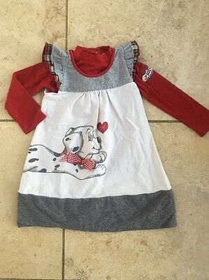 Monnalisa Dalmation 24 Months 2 Years Dress And Top Girls Designer Clothes