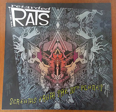 RETARDED RATS - Screams from The 10th Planet LP RED VINYL (NEW) Psychobilly
