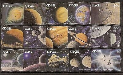 Ciskei 1991 Solar System set of 15