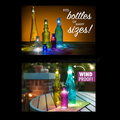 LED Rechargeable USB Cork Shaped Night Light Wine Bottle Lamp For Party Decorate